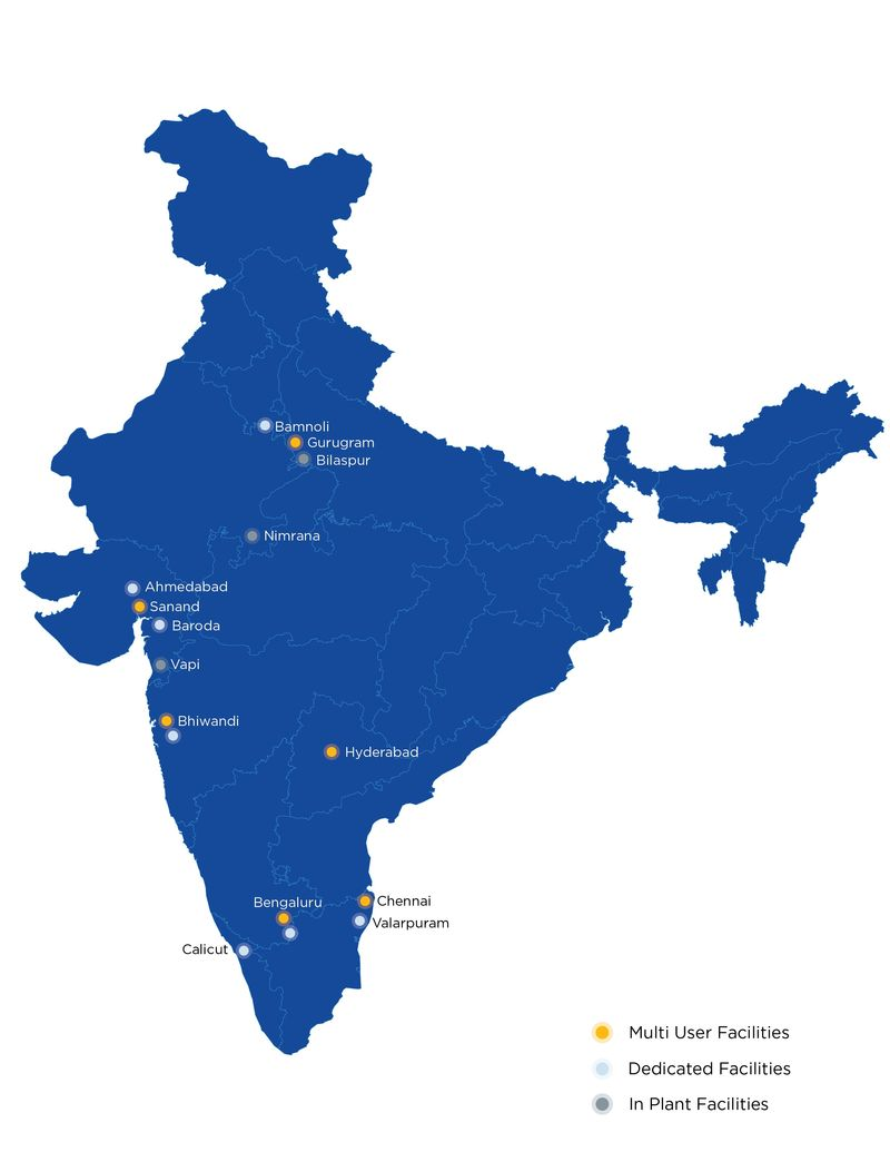 Rhenus India Locations Map